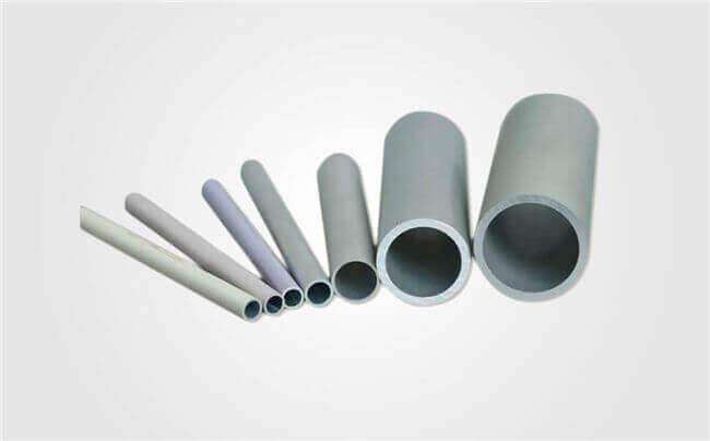 Round extruded aluminum tubes