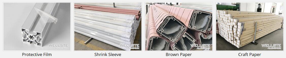 long bar Aluminum profiles packing