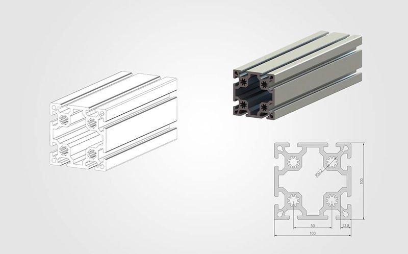 100100 T-slot Aluminum Extrusion