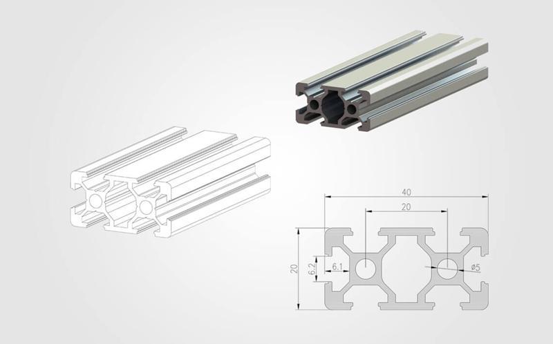 2040 T-slot Aluminum Profile