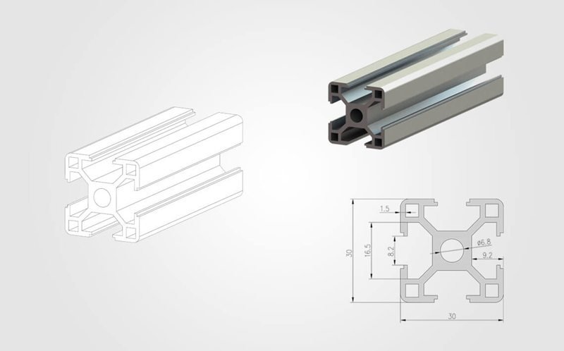 30 series T slot Aluminum Extrusion Profile slider