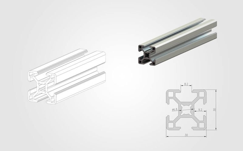 3030 T slot Aluminum Profile - 800
