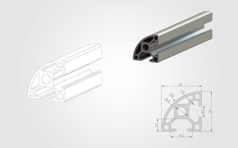 3030R T-slot Aluminum Profile - 800