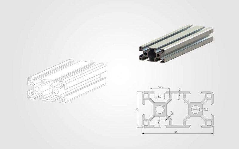 3060 T-slotted Aluminum Profile - 800
