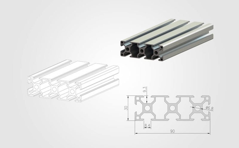 3090 T slot Aluminum Extrusion Profile - 800
