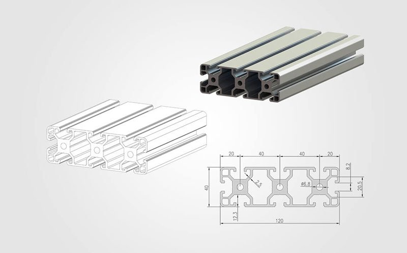 40120 T-slot Aluminum Extrusion Profile