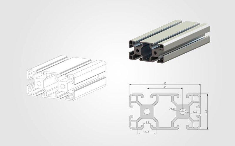 4080 Aluminum T-slot Extrusion
