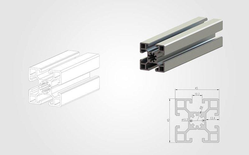 4545 T-slot Aluminum Profile
