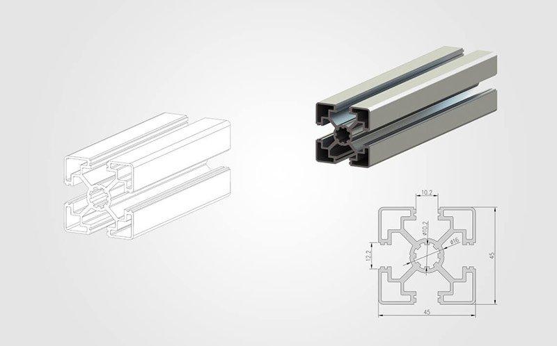 4545 T-slot Aluminum Extrusion