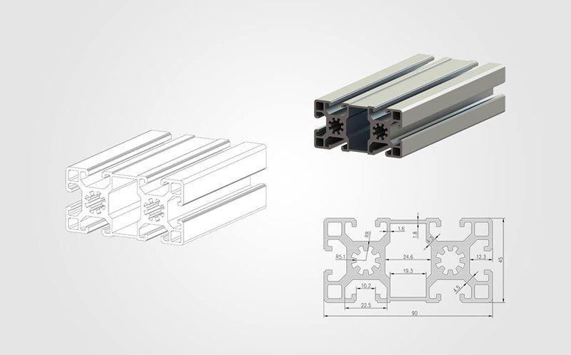 4590 Tslot Aluminum Extrusion Profile