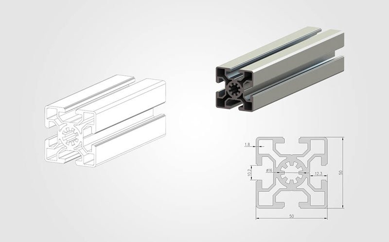 5050 T-slot Aluminum Extrusion Profile