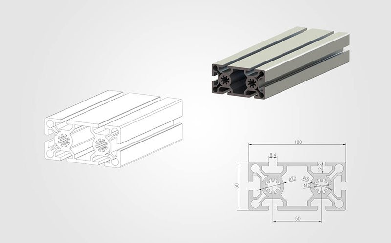 50100 T-slot Aluminum Extrusion Profile