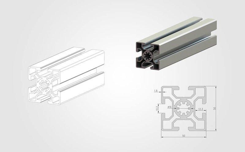 5050 T-slot Aluminum Extrusion