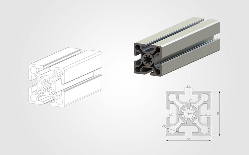 5050 T-slot Aluminum Profile