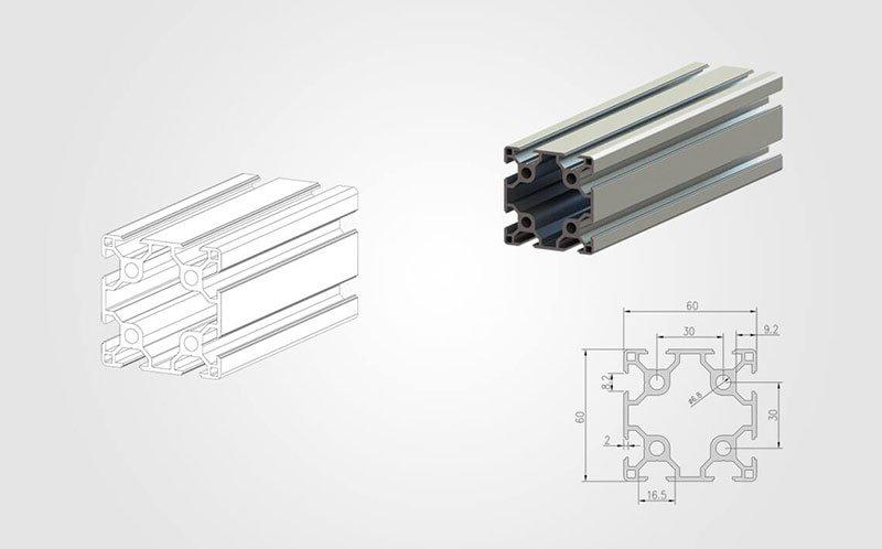6060 T-slot Aluminum Extrusion