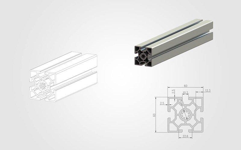 6060 T slot Aluminum Extrusion Profile