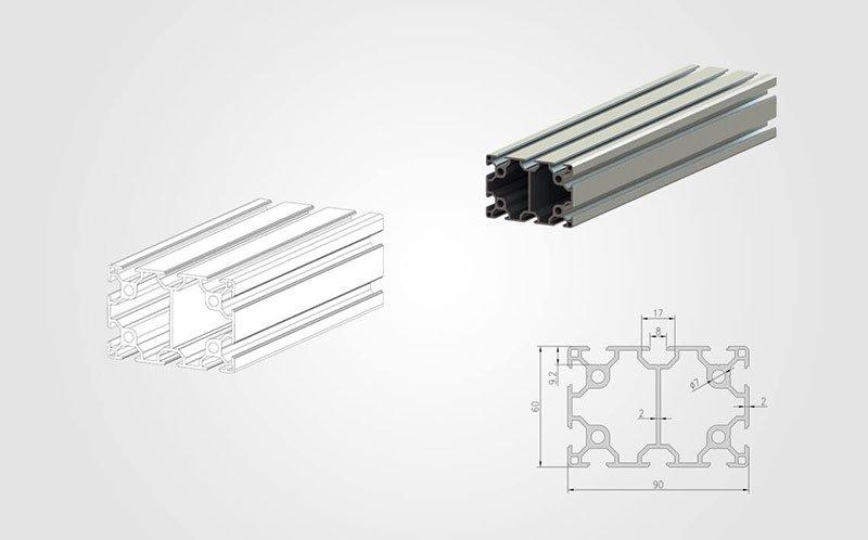6090 T slotted Aluminum Profile