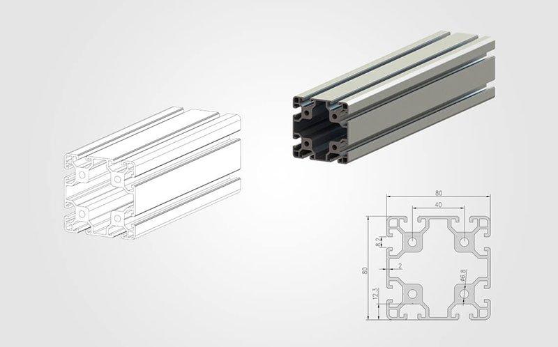 8080 T-slot Aluminum Extrusion Profile