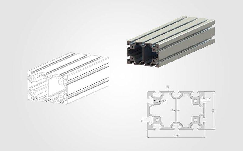 80120 T slot Aluminum Extrusion Profile