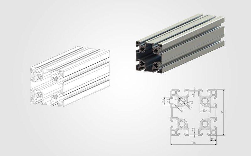 9090 T-slot Aluminum Extrusion