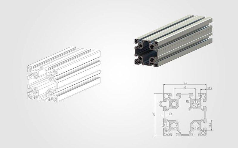 9090 T slot Aluminum Extrusion Profile