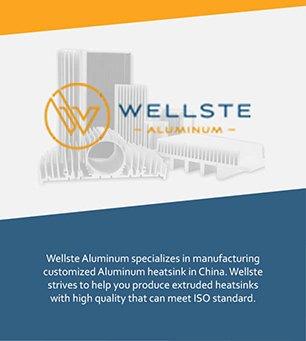 Anodized aluminum heatsink Profile