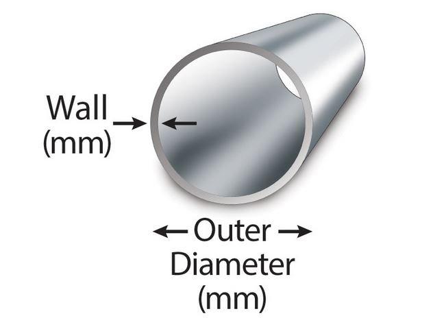 Aluminum tube dimensions