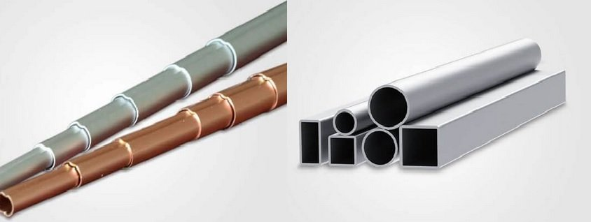 Different types of aluminum extruded tubes