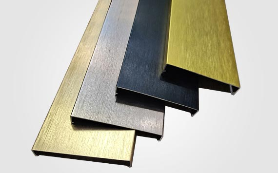 Brushed Aluminium Angle Trim