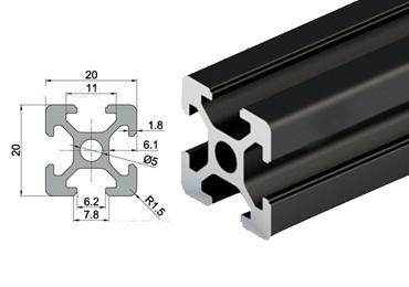 20 series T slot Aluminum Extrusion Profile