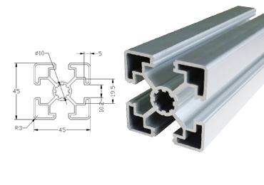 45 series T slot Aluminum Extrusion Profile