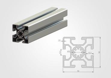 50 Series T Slot Aluminum Extrusion Profile