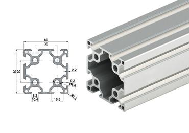 60 series T slot Aluminum Extrusion Profile