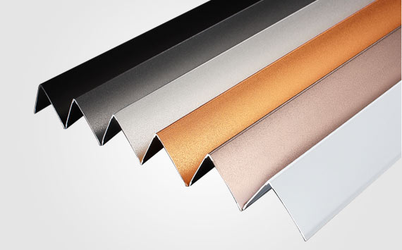 Anodized Aluminum Angle Trim