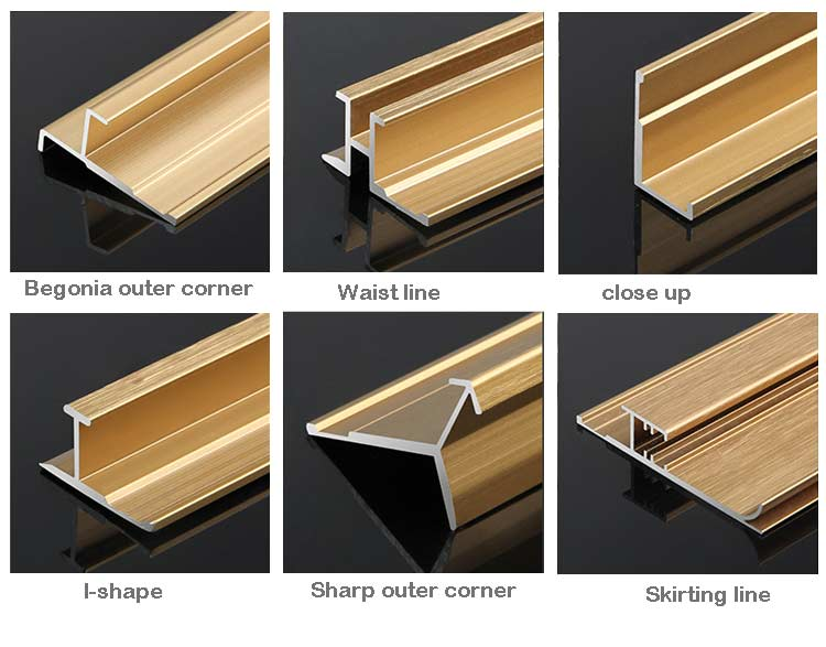 Extruded Aluminum Trim types