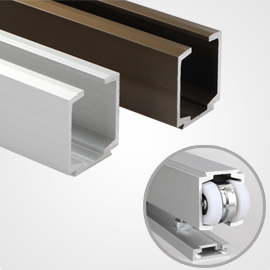 extruded aluminum sliding channel
