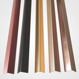 polished aluminium angle
