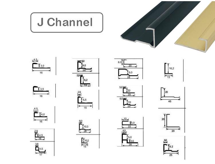 Aluminum J Channel Extrusion
