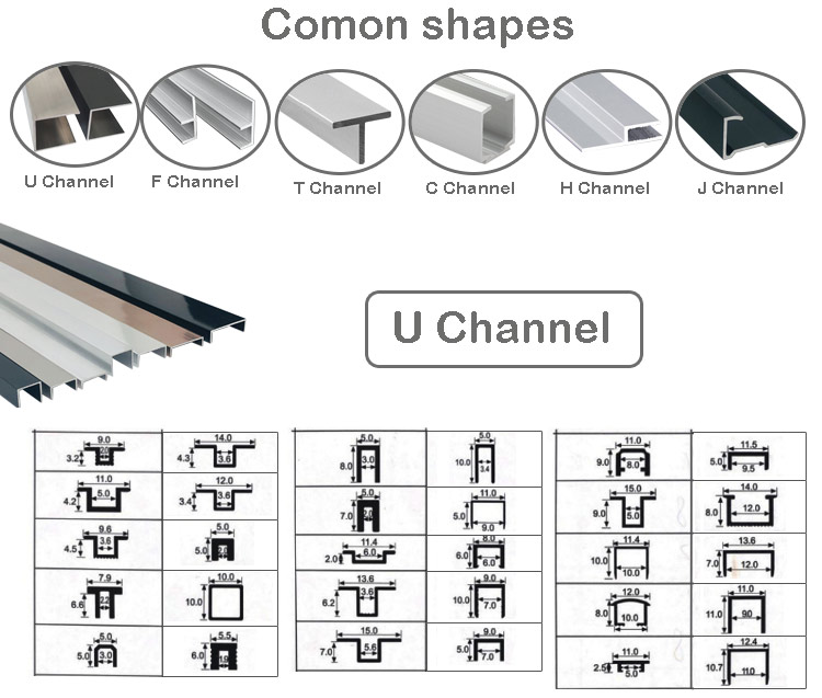 Extruded Aluminum Channel shapes