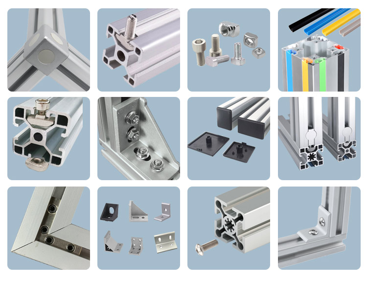T slotted aluminum extrusion frame
