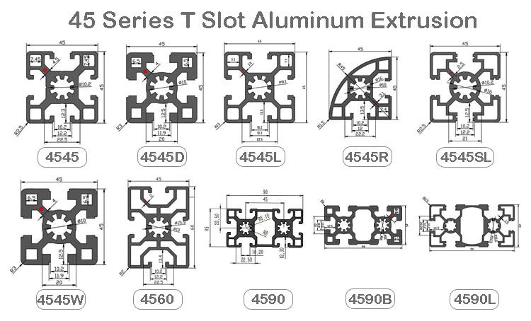 4545 aluminum extrusion