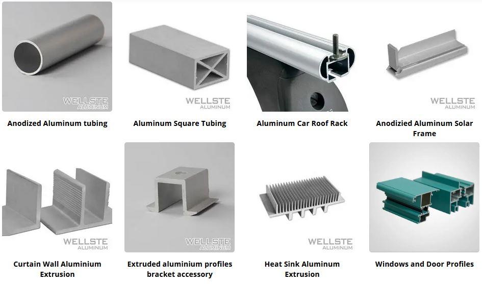 Extruded aluminum profile