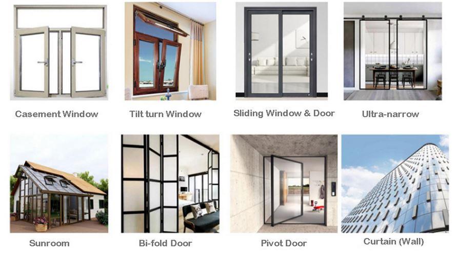 Uses of aluminum door profile