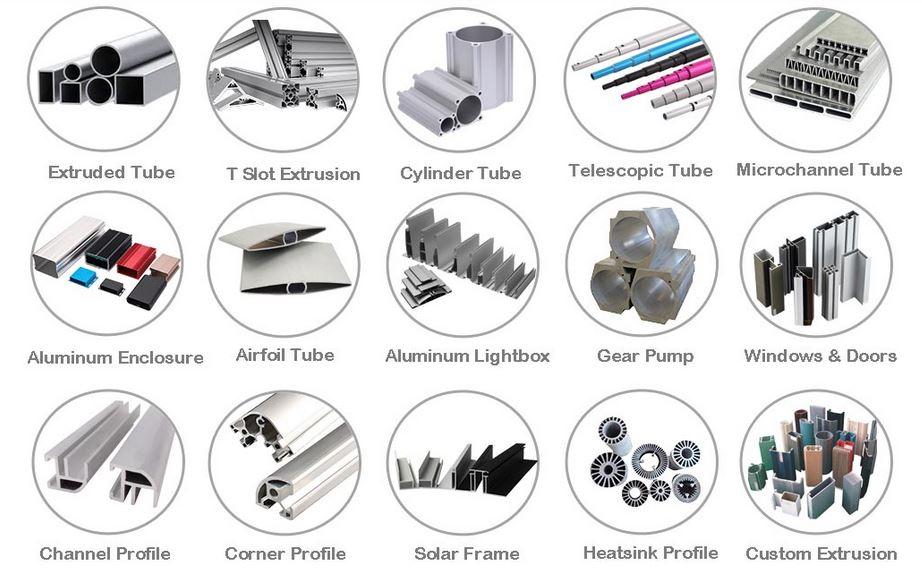 Hollow aluminum profiles
