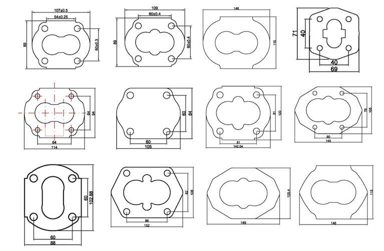 Aluminum profile for gear pumps