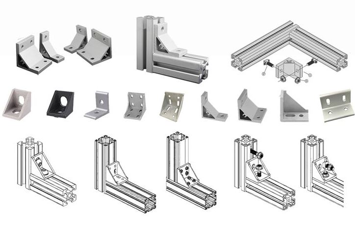 Extruded aluminum bracket profiles