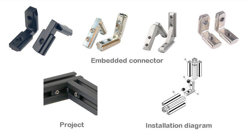 Aluminum profile connector