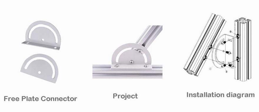 Aluminum profile installation