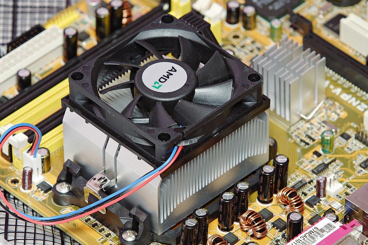 CPU heat sink with fan