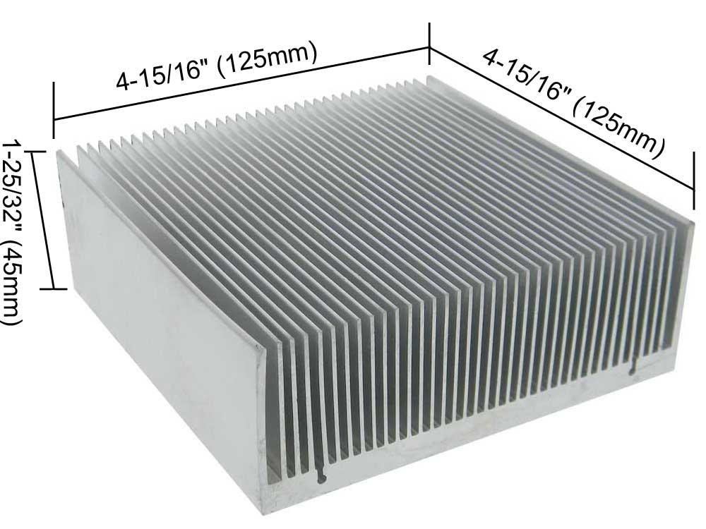 Large aluminum heat sink dimensions